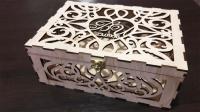 Свадебные коробки из дерева с узором и гравировкой