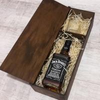 Подарочная коробка для виски и бокала