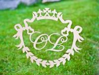 Свадебные инициалы, монограммы, деревянные буквы и инициалы. Лазерная резка фанеры,  гравировка дерева