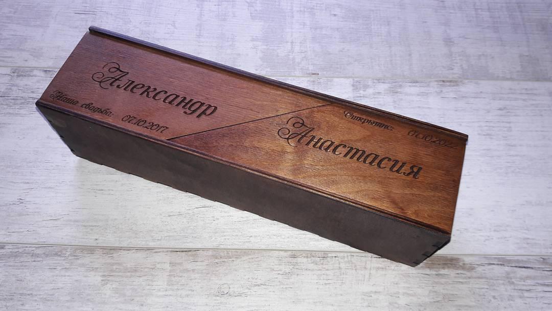Коробки для вина виски шампанского из дерева и фанеры