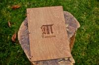 Папки меню из дерева  c логотипом