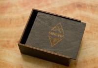 Деревянные коробки из фанеры слайдер пенал с логотипом
