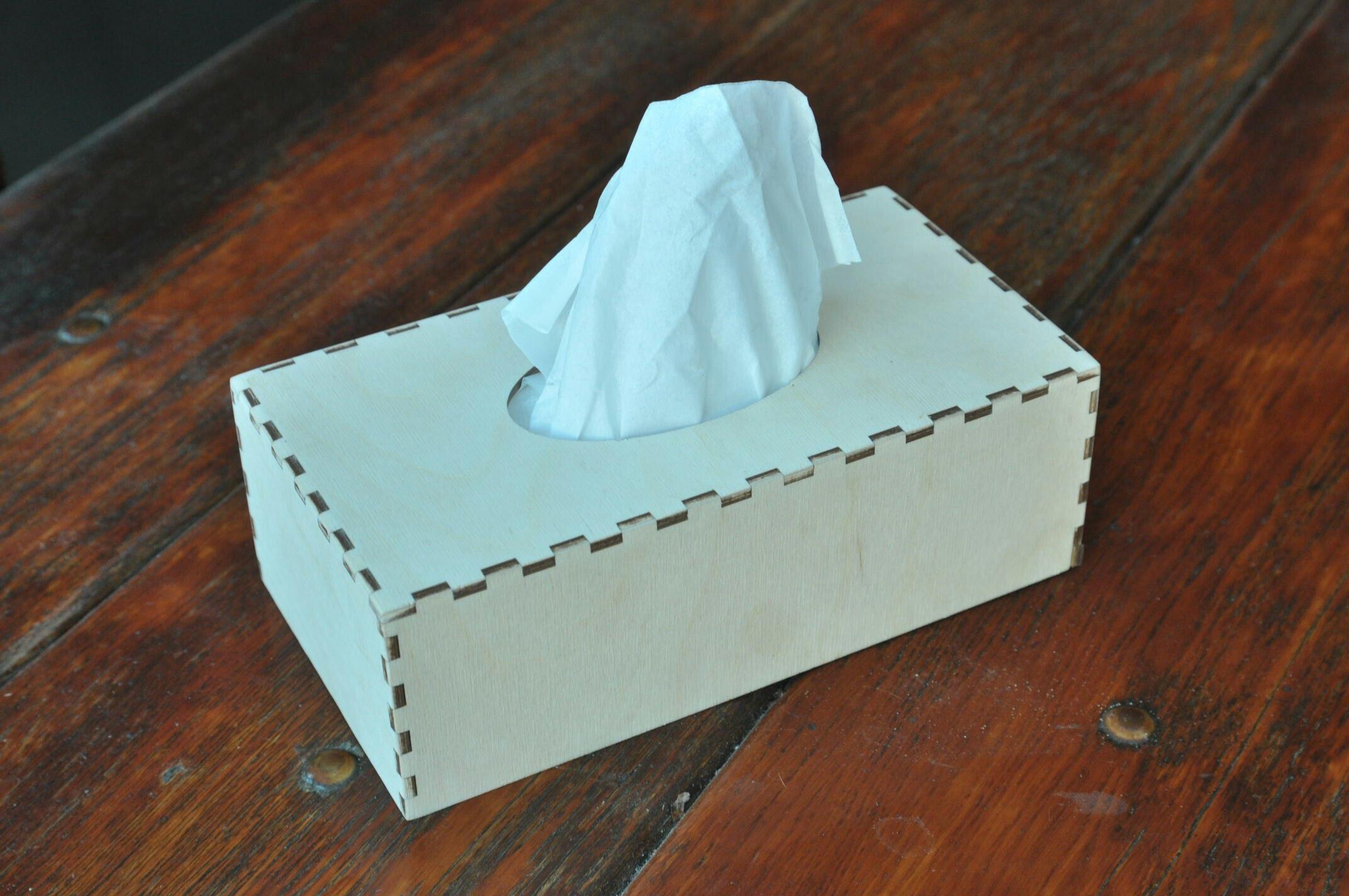Деревянная салфетница коробка из фанеры
