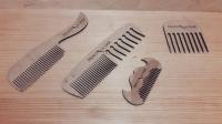 Деревянные расчёски и гребешки для бороды из фанеры с логотипом