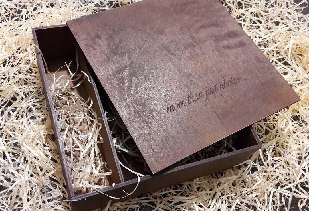 Коробка для фото и флешки. Лазерная резка и гравировка дерева, фанеры в Харькове