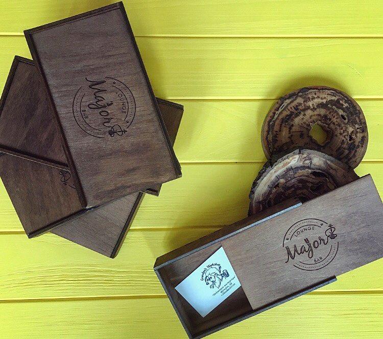 Счётницы коробочки для Lounge Bar Major. Лазерная резка и гравировка дерева в Харькове