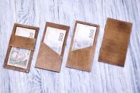 Счётницы для кафе и ресторана из дерева и фанеры с логотипом