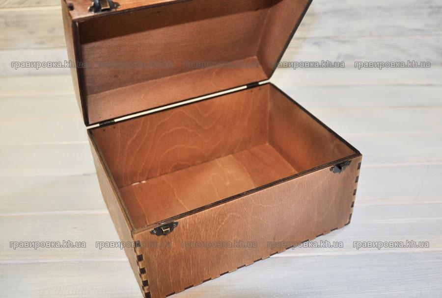 Деревянный сундук. Изготовление деревянных коробок под заказ в Харькове. Лазерная резка фанеры