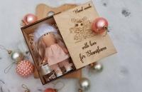 Деревянная коробка для кукол с лазерной гравировкой. Лазерная резка дерева в Харькове