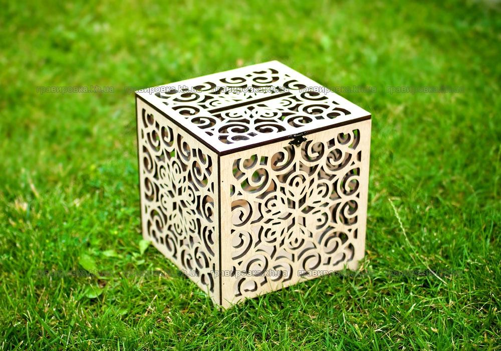 Свадебные коробки для денег с узором. Лазерная резка фанеры и гравировка дерева