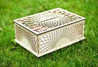 Свадебная коробка для подарков и денег из дерева и фанеры