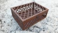 Узорная деревянная коробка -<br> шкатулка под заказ