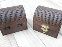 Деревянный сундучок-счетница для денег в кафе и ресторан