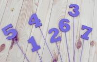 Деревянные цифры на палочке, цифры-топперы для свадьбы, дня рождения, фотосессии, нумерации столов