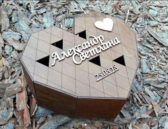 Деревянная коробка сердце - лазерная резка фанеры творит чудеса