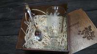 Деревянная коробка для подарочного набора в День Рождения