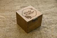 Коробка для колец из дерева с лазерной гравировкой
