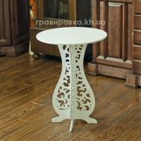 Журнальный столик из дерева белый, белый свадебный столик