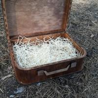 Подарочная деревянная упаковка Чемодан