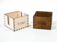 Салфетницы из дерева в виде коробки