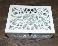 Свадебная коробка с инициалами