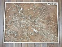 Карта города Харькова из фанеры
