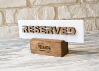 Табличка Стол заказан, RESERVED