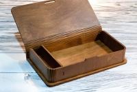 Деревянная коробка для фотографий и флешки