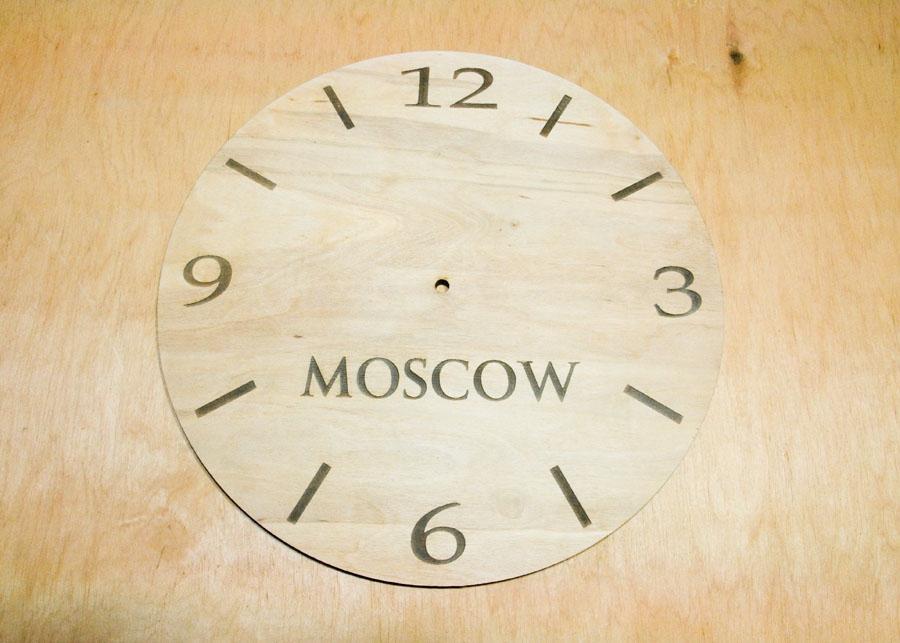 Лазерная резка фанеры в Харькове, часы из фанеры