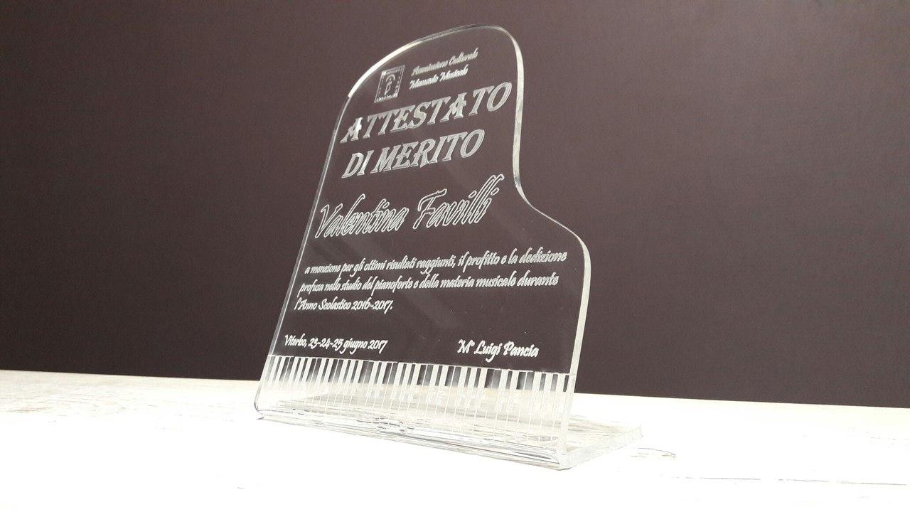 Награды из акрила оргстекла с лазерной гравировкой