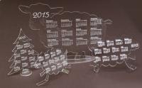Календари из пластика