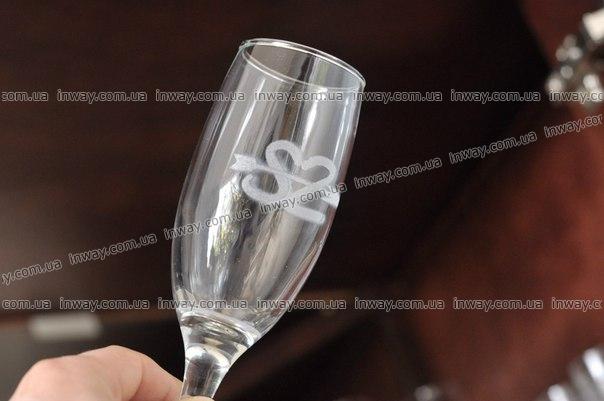 Гравировка на бокалах и стекле
