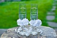 Свадебные бокалы Bohemia для свадьбы с лазерной гравировкой под заказ