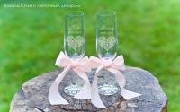 Свадебные бокалы с лазерной гравировкой имени и даты