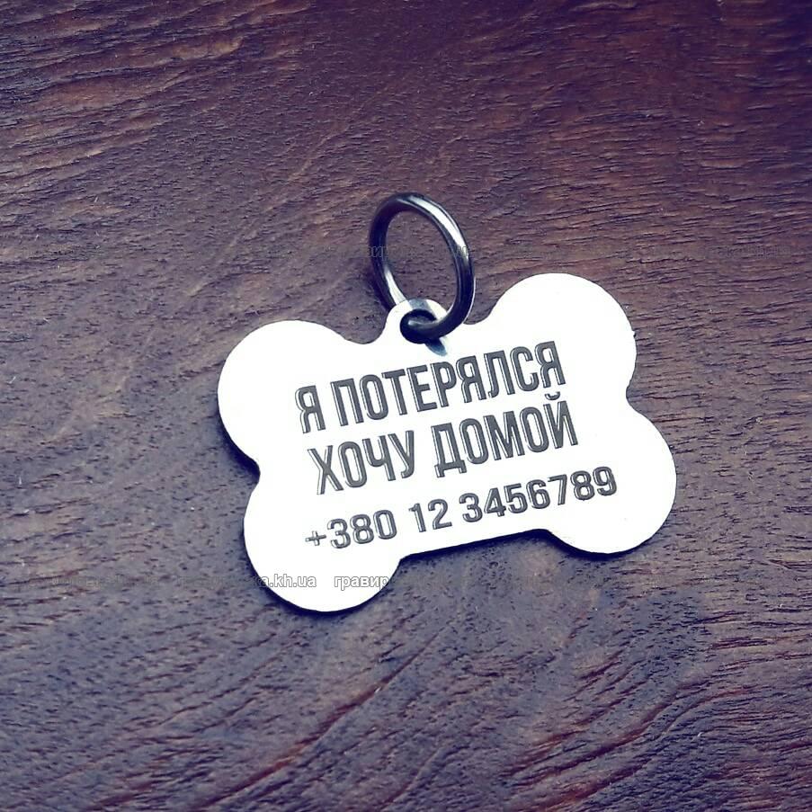 Жетоны и кулоны для собак с гравировкой