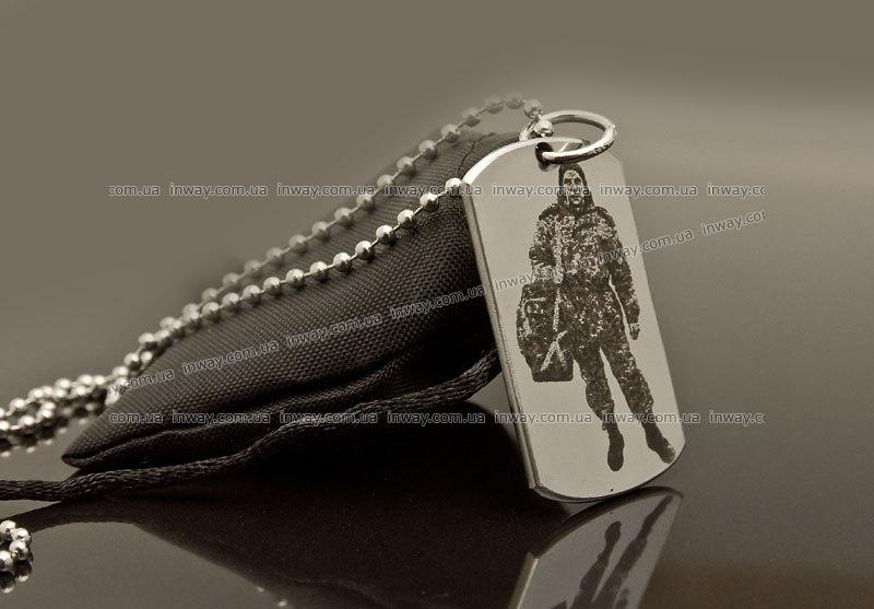 Армейский жетон с гравировкой