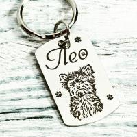 Адресник-кулон для кота, собаки