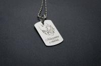 Кулоны, жетоны, медальоны с гравировкой - подарок для близких людей