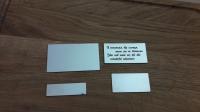 Металлические таблички и шильды с гравировкой надписи, фраз и т.д.