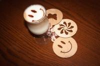 Трафареты для кофе из фанеры