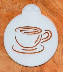 Трафареты для кофе из дерева