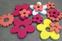 Лазерная резка фигурок из пенопласта. Фигурки, цветочки, ромашки из пенопласта.