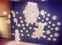 Снежинки из пенопласта, лазерная резка пенопласта в Харькове
