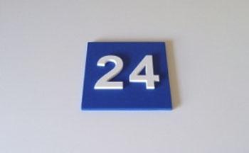 Пластиковые таблички номера дома