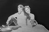 Свадебный подарок - фигурки из акрила с фотогравировкой