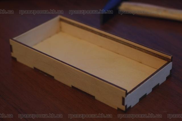 Подарочная коробка из дерева (фанеры) для денежных купюр