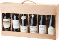 Сувенирная упаковка из дерева с гравировкой для бутылок