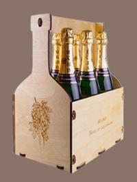 Подарочная коробка из дерева для шампанского с гравировкой