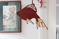 Подвесная рыба из фанеры
