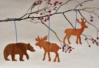 Игрушки из фанеры - медведи, олени